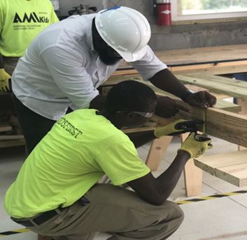 The youth at Escambia Boys Base, a non-secure program operated by AMIkids, refined their carpentry skills this month.