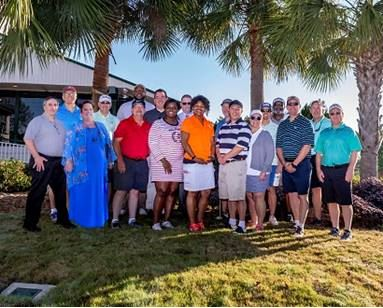 2019 FCCD Golf Tournament, DJJ staff volunteers at FCCD Golf Tournament