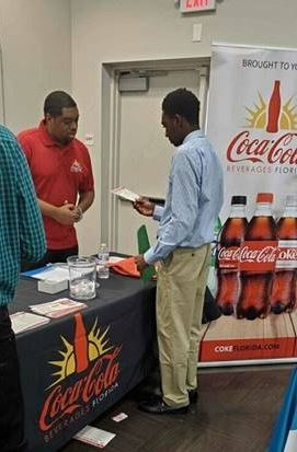 Youth from AMIkids Greater Fort Lauderdale attending youth fair.