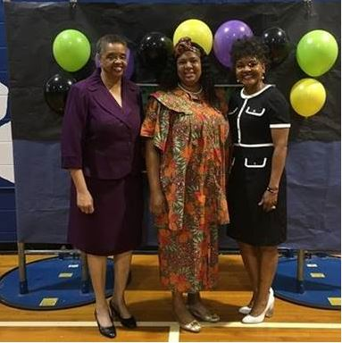 Assistant Secretary Alice Sims was the guest speaker at Griffin Middle School Black History Month Celebration.