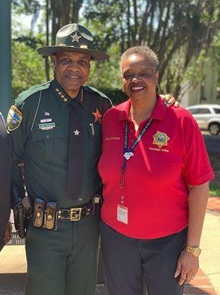 Leon County Sheriff Walt McNeil and Verla Lawson-Grady