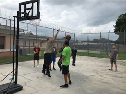 YWAM basketball with youth