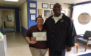 Administrative Assistant Jessica Lethco was recently named Pasco RJDC Employee of the Month.