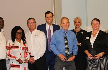 Five provider staff members were awarded the FJJA Service Excellence Award.