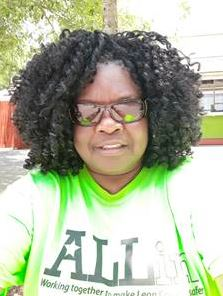DJJ Accountant III Doris Strong from the Office of Finance and Accounting chaperoning a field trip to Wild Adventures
