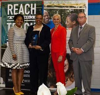 `Prevention Assistant Secretary Alice Sims, Statewide Community Outreach & Engagement Coordinator Verla Lawson-Grady, Secretary Simone Marstiller and Deputy Secretary Tim Niermann