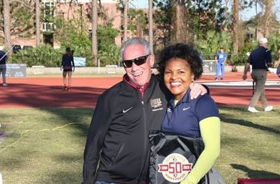 FSU Head Track and Field Coach Bob Braman and Alice Sims