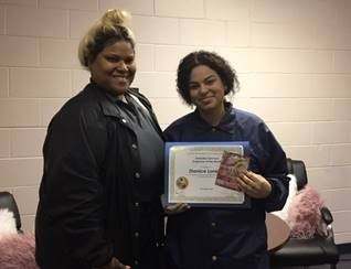 Nickevia Chapalet & CPL. Zhanice Loney