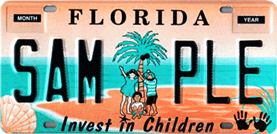 Image of Invest in Children license plate