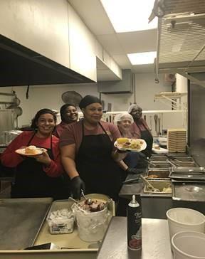 kitchen staff at marion rjdc