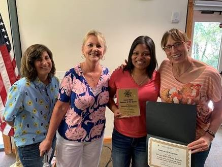 Pictured above (from left to right): Assistant Chief Joyce Lehman, Regional Director Cathy Lake, JPOS Takeria Peterson and Chief Probation Officer Melissa Fuller