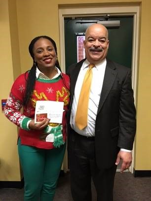 Bond Elementary School Principal, Delshuana Jackson and Eugene Morris, State and Federal Director