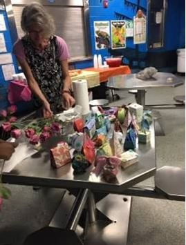 Youth from Manatee RJDC made a gift box for their mother.