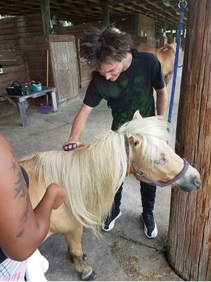 Project bridge youth brushing pony