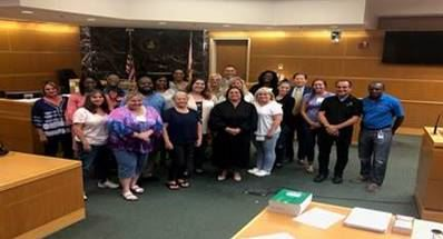 Circuit 6 Probation and Prevention Staff and the Pinellas County Justice Coordination recently celebrated the graduation of 20 individuals from the 5th Juvenile Justice Citizens Academy class in St. Petersburg.