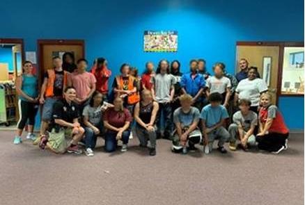 Blake Academy cleanup volunteers