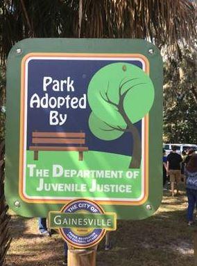 adopt a park sign