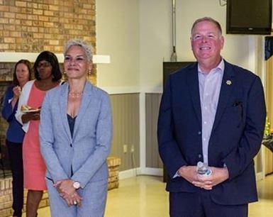 DJJ Secretary Simone Marstiller and Department of Corrections Secretary Mark Inch.