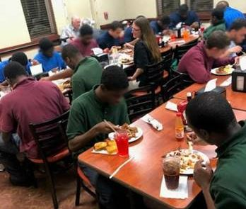 Brooksville Academy eating at Golden Corral.
