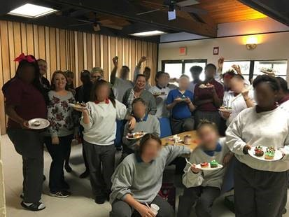 c8 youth at holiday party