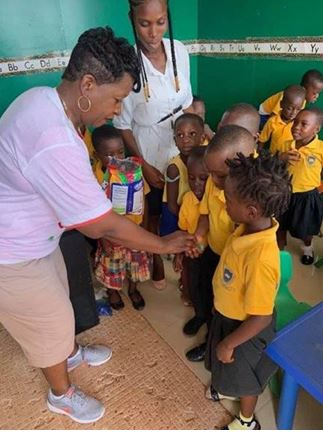 JPO Donna Easterling from Flagler County traveled to Ghana in West Africa to help youth and families in need.
