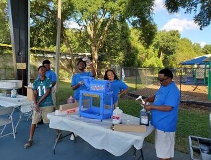 youth volunteers at national night out