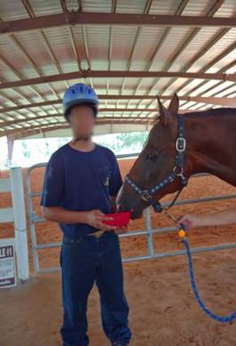 Ocala Center For Success and Independence youth with horse
