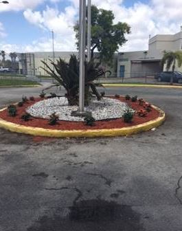 Miami Dade Regional Juvenile Detention Center has also begun a beautification effort to enhance the building's front entrance