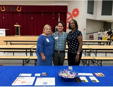 Linda Tapia,  Recruiter, St. Lucie Public Schools Manual Rubio, Counselor, Pace Center for Girls