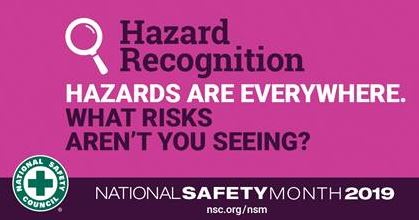 Hazard Recognition - Hazards are everywhere.  What risks aren't you seeing?