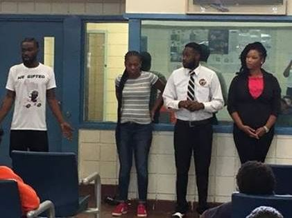 A local group of Orlando entrepreneurs speaking to youth at Orange RJDC.