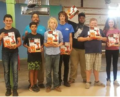 Youth at AMIkidsPCMI receiving Carpentry Level 1 certifications.