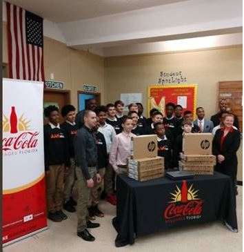Coca-Cola Beverages Florida recently visited AMIkids Tampa
