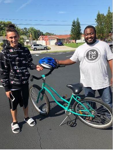 eckerd youth with wellbuilt bikes