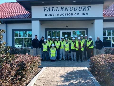 youth visiting construction company