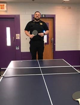 bradley taylor with ping pong table