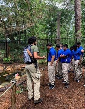 Youth from the Center for Success and Independence-Ocala visiting the Santa Fe College Teaching zoo.