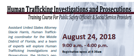 Human Trafficking Investigations and Prosecutions Training