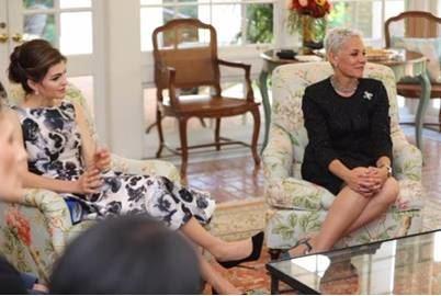 First Lady DeSantis and Secretary Marstiller