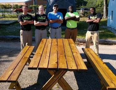 Youth from AMIkids Pensacola and Escambia made picnic table and benches.