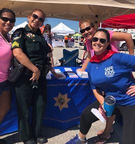 Probation staff at Safe Kids Southwest Florida event.