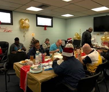 st lucie staff at holiday lunch