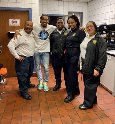 Cpt Luis Quinones; Tre Boston; Sgt Pierre Sainval; Sgt Kimberly Soto; Lt Laura Ortiz.