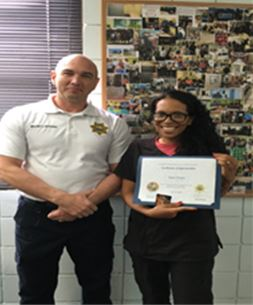 Congratulations to Medical Records Clerk Sade Henry for being named Orange Regional Juvenile Detention Center (RJDC)'s Provider Employee of the Month.