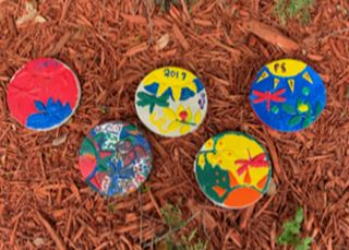 Stepping stones created by youth at Hope Forest Academy.