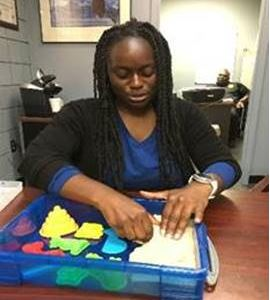 Mental Health Counselor Breahannah Hilaire recently debuted therapeutic kinetic sand and therapeutic Jenga