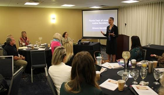 DJJ secretary speaking at florida network roundtable