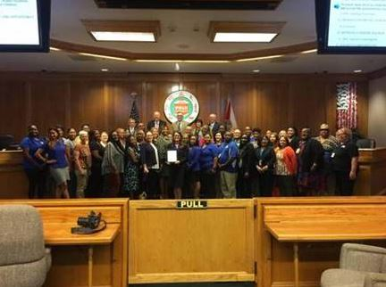 The Polk County Board of Commissioners proclaimed April as Child Abuse Prevention Month and DJJ staff were in attendance to show their support.