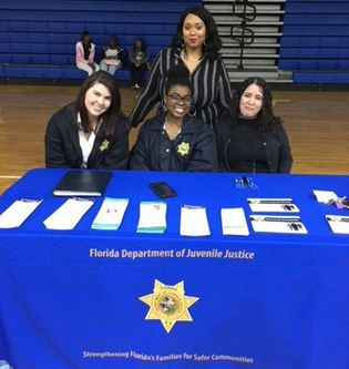 Circuit 2 Probation staff recently participated in Gadsden High School's Dress for Success Career Fair & Expo in Havana.