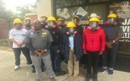 Saint Johns youth at hazmat training